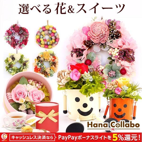 母の日プレゼント 花 ギフト 2019 プリザーブドフラワー お菓子 花とスイーツ 写真立て 薔薇 hana-collabo