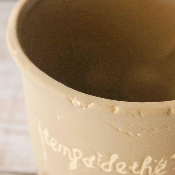 プランター おしゃれ 植木鉢 カッププランター カフェブラウン 3.5号|hana-kazaru|02
