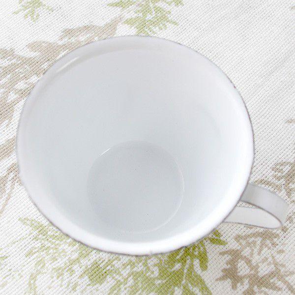 鉢カバー ホーロー 白いカップの形のエナメル・スモールカップポット|hana-kazaru|03