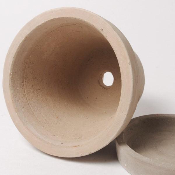 プランター おしゃれ 植木鉢 素焼きのナチュラルプランター ラウンド ミニ 約3.5号|hana-kazaru|05