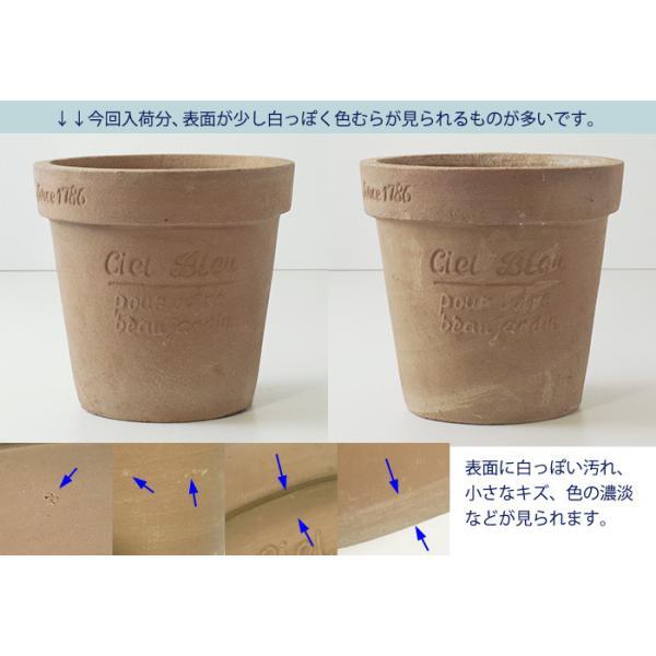 プランター おしゃれ 植木鉢 素焼きのナチュラルプランター ROUND S 5号|hana-kazaru|02