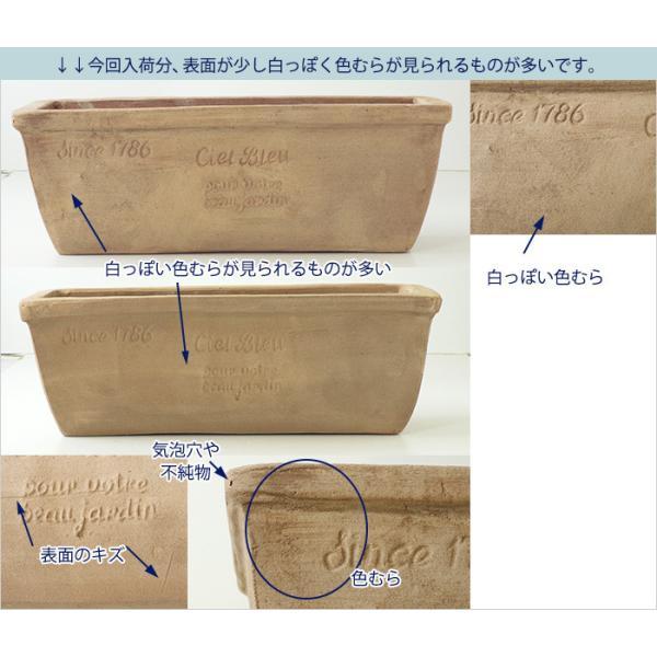 プランター おしゃれ 植木鉢 素焼きのナチュラルプランター RECT 約37×13cm|hana-kazaru|02