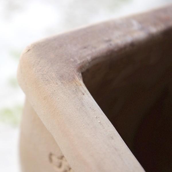 プランター おしゃれ 植木鉢 素焼きのナチュラルプランター RECT 約37×13cm|hana-kazaru|03