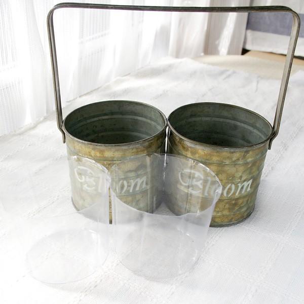 鉢カバー おしゃれなブリキ缶の鉢カバー BLOOM HANDLE 2 POT|hana-kazaru|06