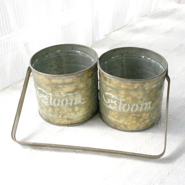 鉢カバー おしゃれなブリキ缶の鉢カバー BLOOM HANDLE 2 POT|hana-kazaru|07