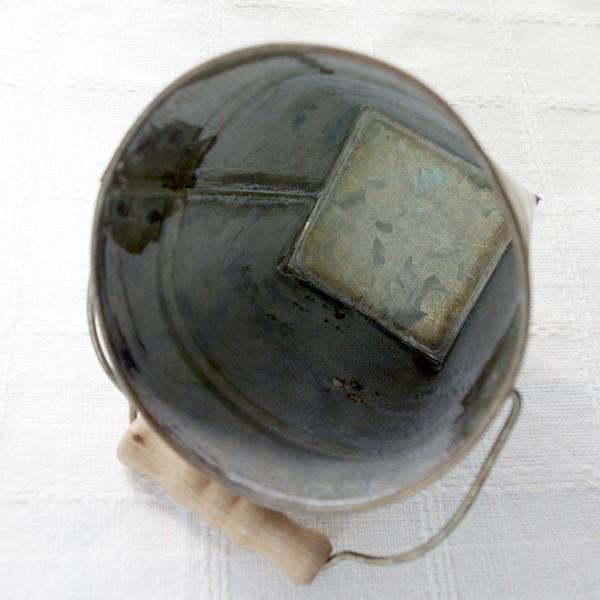 鉢カバー おしゃれなブリキの鉢カバー BLOOM BUCKET Sサイズ|hana-kazaru|03