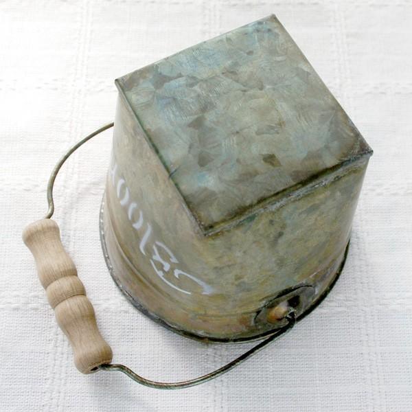 鉢カバー おしゃれなブリキの鉢カバー BLOOM BUCKET Sサイズ|hana-kazaru|04