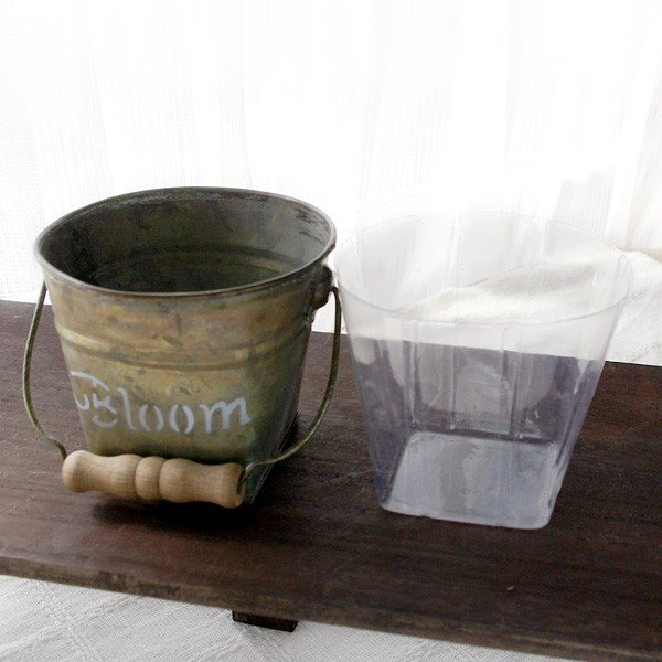 鉢カバー おしゃれなブリキの鉢カバー BLOOM BUCKET Sサイズ|hana-kazaru|06
