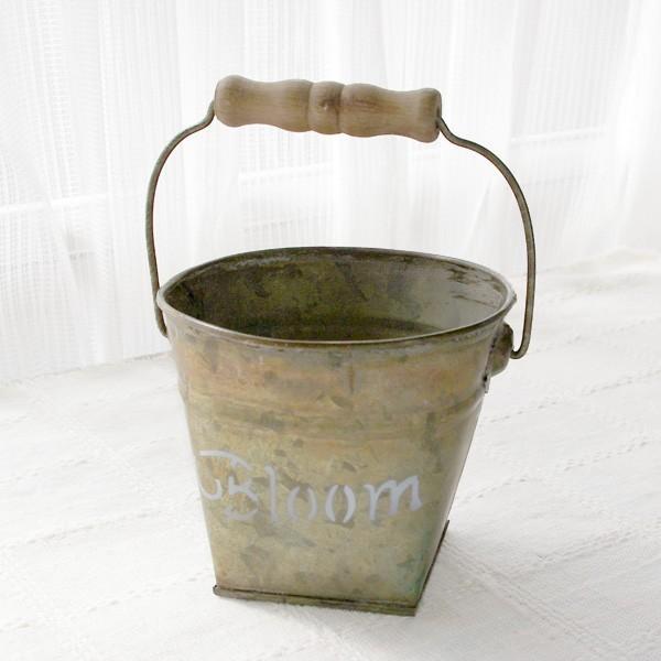 鉢カバー おしゃれなブリキの鉢カバー BLOOM BUCKET Sサイズ|hana-kazaru|07
