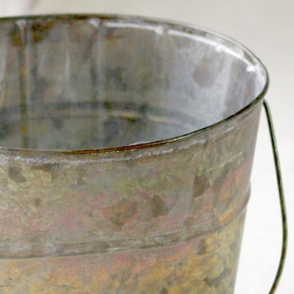鉢カバー おしゃれなブリキの鉢カバー BLOOM BUCKET Lサイズ|hana-kazaru|02