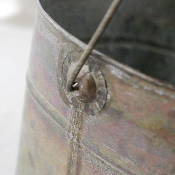 鉢カバー おしゃれなブリキの鉢カバー BLOOM BUCKET Lサイズ|hana-kazaru|05