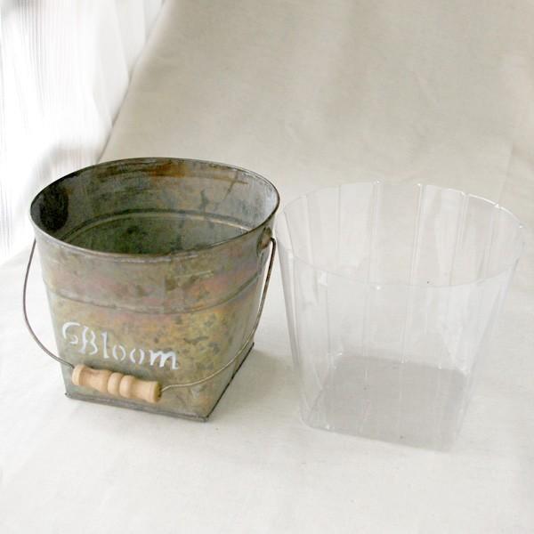 鉢カバー おしゃれなブリキの鉢カバー BLOOM BUCKET Lサイズ|hana-kazaru|06