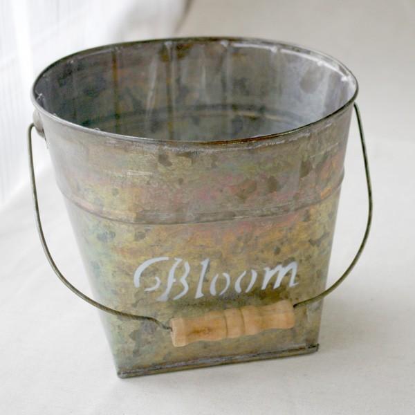 鉢カバー おしゃれなブリキの鉢カバー BLOOM BUCKET Lサイズ|hana-kazaru|07