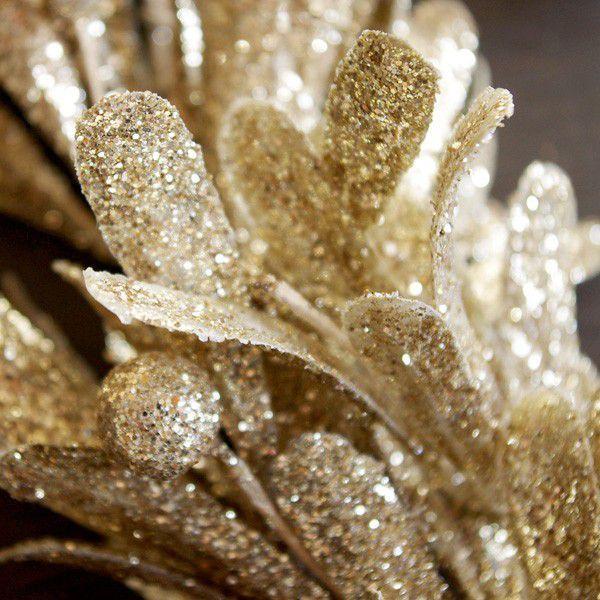 リース クリスマスリース リース材料 エレガント・ゴールドリース  直径約35cm|hana-kazaru|03