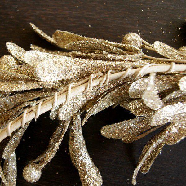 リース クリスマスリース リース材料 エレガント・ゴールドリース  直径約35cm|hana-kazaru|04