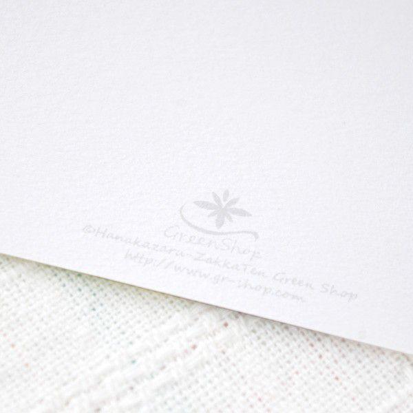 ポストカード おしゃれ グリーンリーフ・日本郵便クリックポスト対応:可/1通60枚まで|hana-kazaru|04