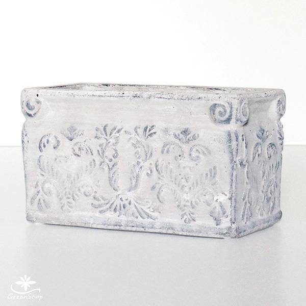 プランター おしゃれ 植木鉢 陶器 ダイナスティ レクトポット 約18×9cm|hana-kazaru|02