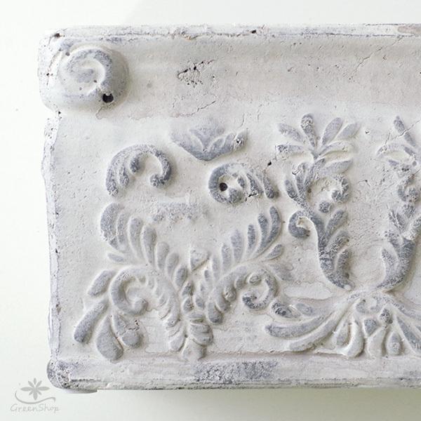 プランター おしゃれ 植木鉢 陶器 ダイナスティ レクトポット 約18×9cm|hana-kazaru|03