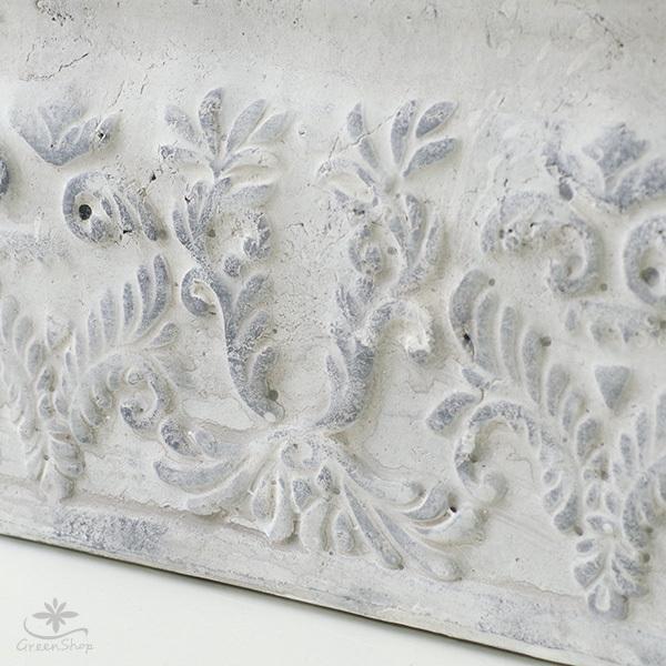 プランター おしゃれ 植木鉢 陶器 ダイナスティ レクトポット 約18×9cm|hana-kazaru|04