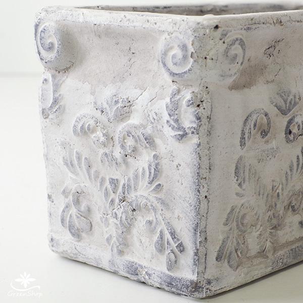 プランター おしゃれ 植木鉢 陶器 ダイナスティ レクトポット 約18×9cm|hana-kazaru|05