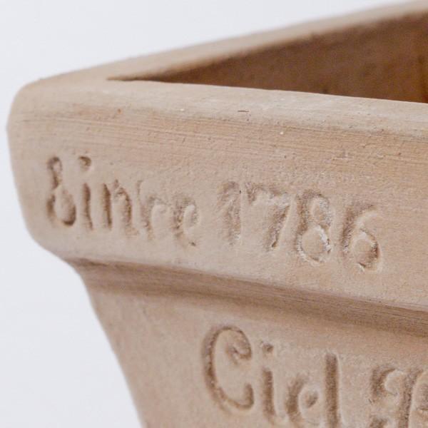 プランター おしゃれ 植木鉢 素焼きのナチュラルプランター スクエア ミニ 約3.5号|hana-kazaru|03