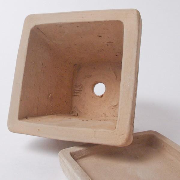 プランター おしゃれ 植木鉢 素焼きのナチュラルプランター スクエア ミニ 約3.5号|hana-kazaru|05