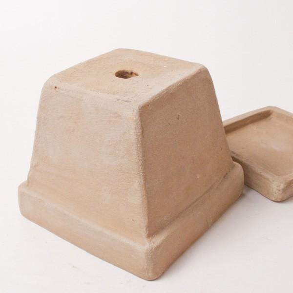 プランター おしゃれ 植木鉢 素焼きのナチュラルプランター スクエア ミニ 約3.5号|hana-kazaru|06