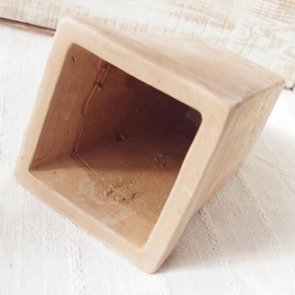 プランター おしゃれ 植木鉢 素焼きのナチュラルプランター SQUARE 4.5号|hana-kazaru|04
