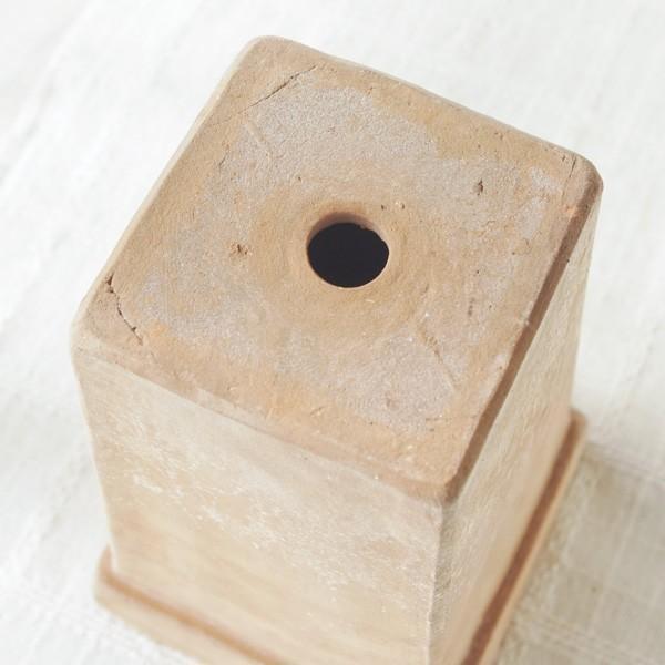 プランター おしゃれ 植木鉢 素焼きのナチュラルプランター SQUARE 4.5号|hana-kazaru|05