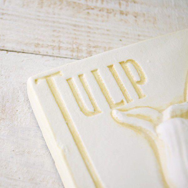 インテリア雑貨 オブジェ 壁掛け アート おしゃれインテリアプレート ホワイトチューリップ|hana-kazaru|02