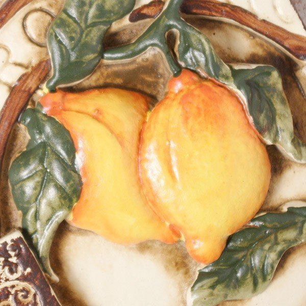 インテリア雑貨 オブジェ 壁掛け アート おしゃれインテリアプレート フルーツレモン|hana-kazaru|04