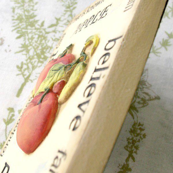インテリア雑貨 オブジェ 壁掛け アート おしゃれインテリアプレート フルーツアップル|hana-kazaru|03