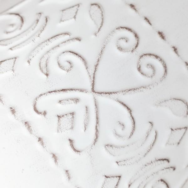 鉢カバー ブリキ アラベスクバケツ ホワイト|hana-kazaru|03