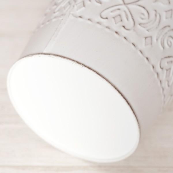 鉢カバー ブリキ アラベスクバケツ ホワイト|hana-kazaru|04