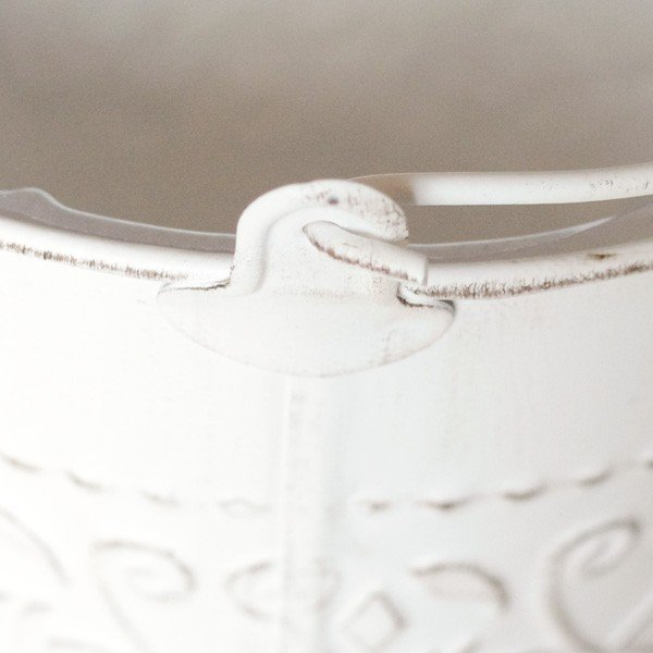 鉢カバー ブリキ アラベスクバケツ ホワイト|hana-kazaru|05