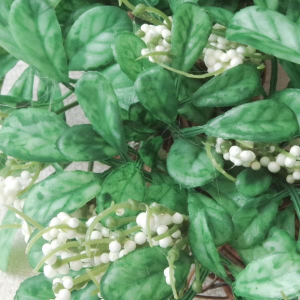 造花 リース おしゃれ ナチュラルグリーンリーフ・リース 直径約30cm|hana-kazaru|02