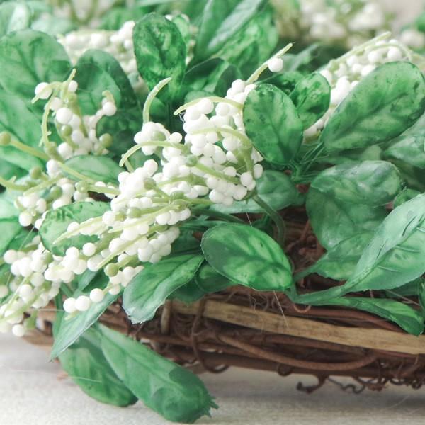 造花 リース おしゃれ ナチュラルグリーンリーフ・リース 直径約30cm|hana-kazaru|06