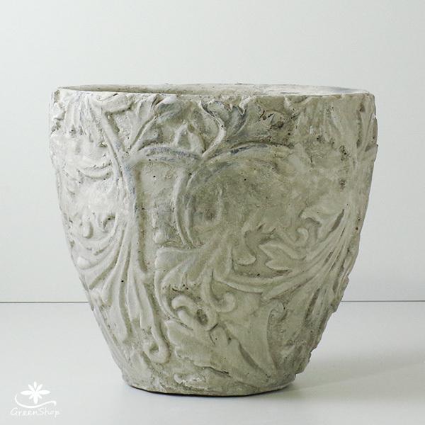 プランター おしゃれ 植木鉢 陶器 アラベスクポット 約7号|hana-kazaru|02