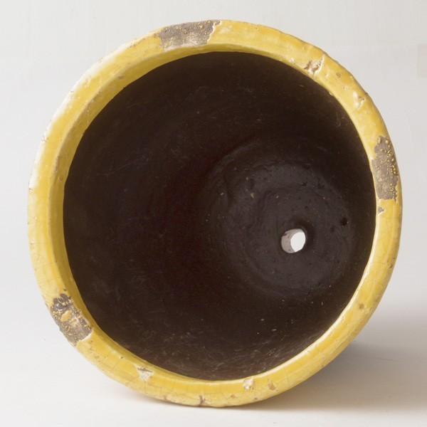 プランター おしゃれ 植木鉢 陶器 シャビードリッププランター イエロー 約6.5号|hana-kazaru|05