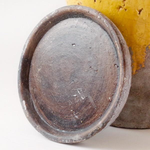 プランター おしゃれ 植木鉢 陶器 シャビードリッププランター イエロー 約6.5号|hana-kazaru|07