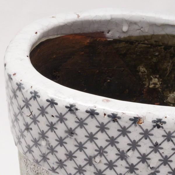 プランター おしゃれ 植木鉢 陶器 クラシカルオーバルプランター Lサイズ 楕円横約21×高さ17.5cm|hana-kazaru|02