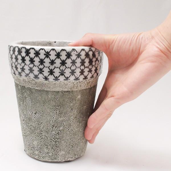 プランター おしゃれ 植木鉢 陶器 クラシカルハイプランター Sサイズ 約4.5号|hana-kazaru|06