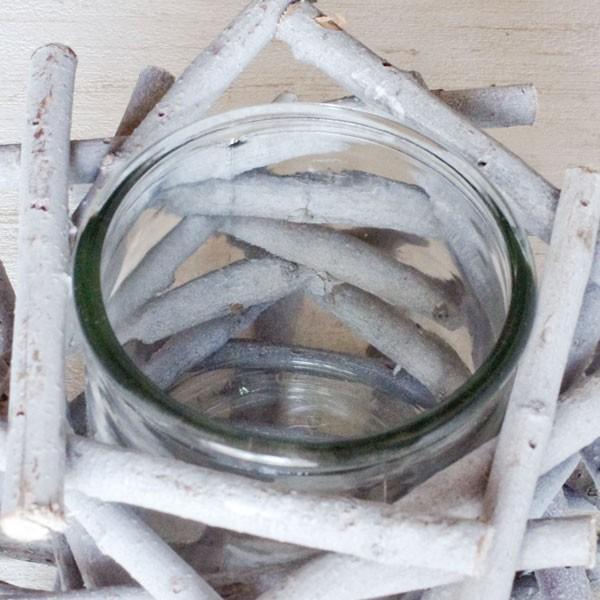 フラワーベース 花瓶 ガラス クリスマス ホワイトウッドフラワーベース|hana-kazaru|02