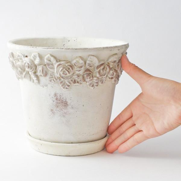 プランター おしゃれ 植木鉢 セメント鉢 ローズラウンドボトム 約6.5号|hana-kazaru|06
