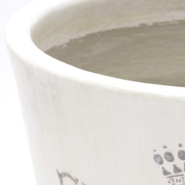 プランター おしゃれ 植木鉢 陶器 プロバンスパピルス ホワイト 約7号|hana-kazaru|02
