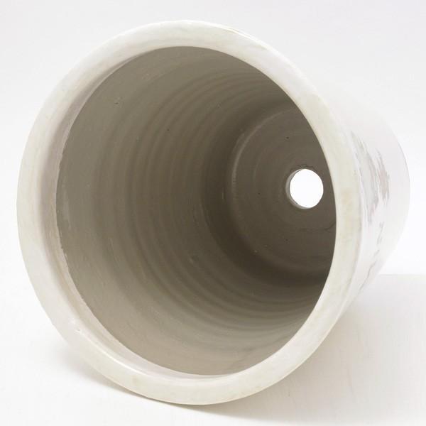プランター おしゃれ 植木鉢 陶器 プロバンスパピルス ホワイト 約7号|hana-kazaru|04