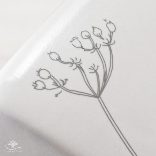 プランター おしゃれ 植木鉢 植物柄のスクエアプランター 約4.5号 受け皿付|hana-kazaru|04
