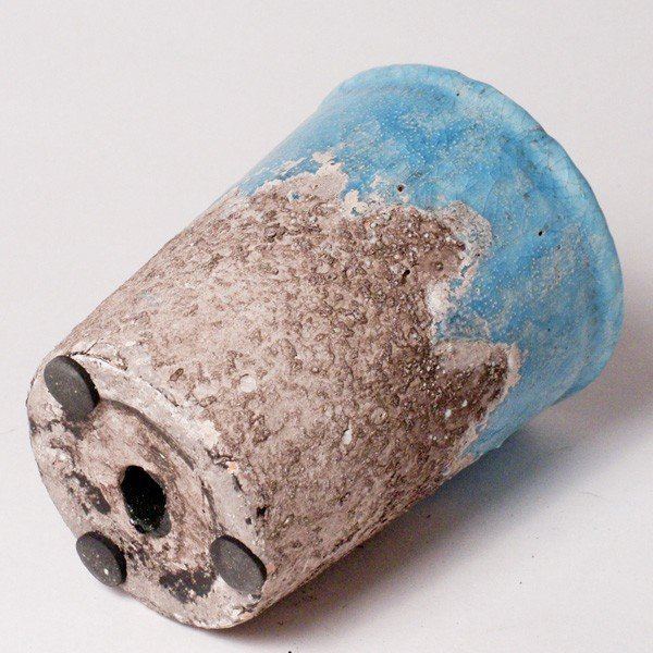 プランター おしゃれ 植木鉢 陶器 シャビーポット深鉢タイプ ブルー 約3.5号 |hana-kazaru|04