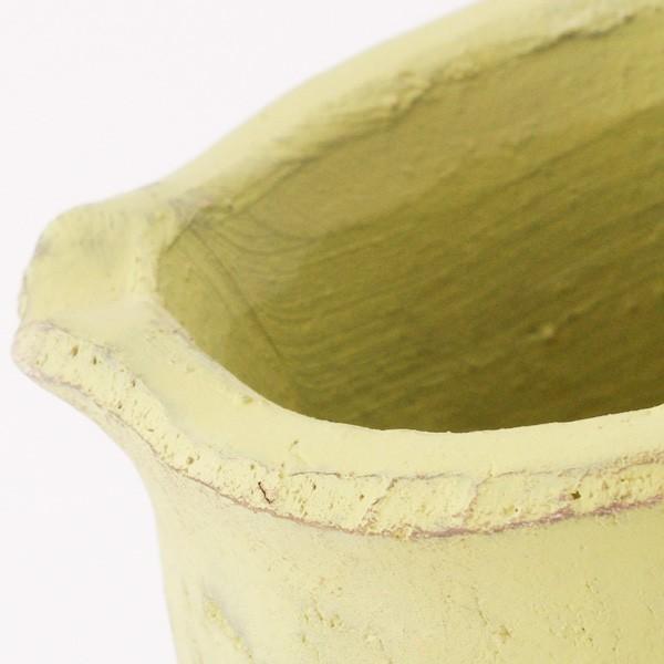プランター おしゃれ 植木鉢 素焼きのアンティーク風ピッチャープランター グリーン 約3.5号|hana-kazaru|02