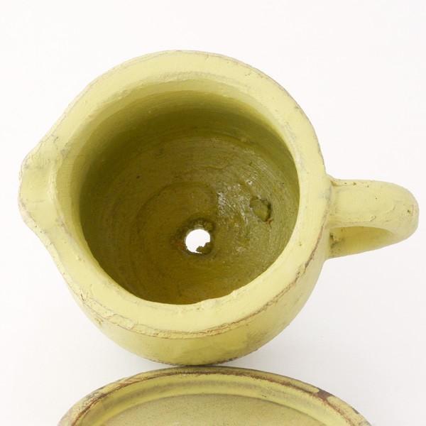 プランター おしゃれ 植木鉢 素焼きのアンティーク風ピッチャープランター グリーン 約3.5号|hana-kazaru|03